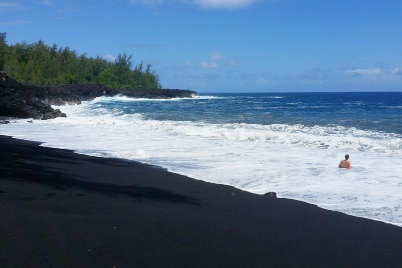 Trail To Hidden Kehena Black Sand Beach