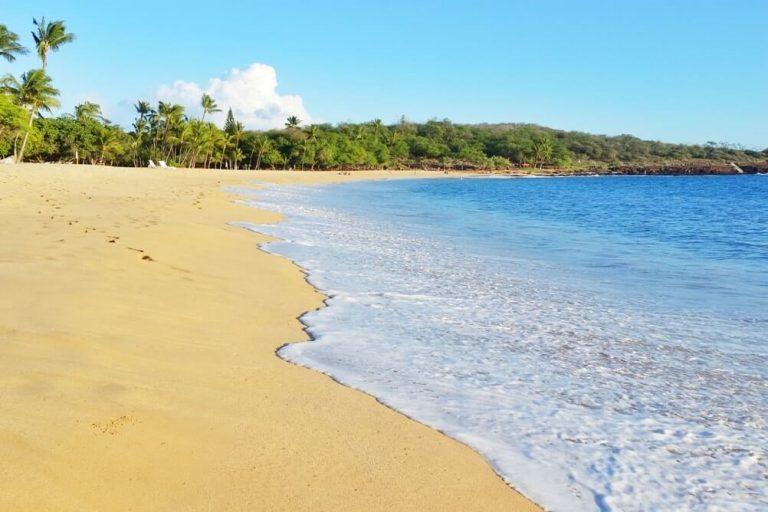 Hulopoe Beach camping in Lanai Hawaii (+ wild beach ...