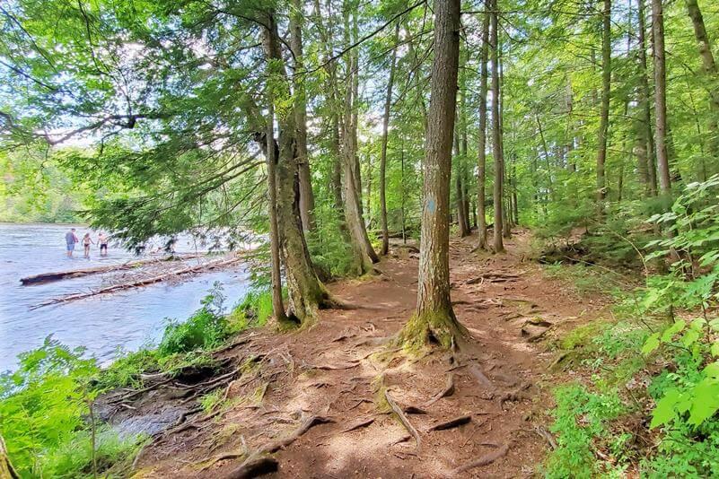Best Michigan waterfall hikes. Best Upper Peninsula waterfall hikes. river trails. up michigan travel blog