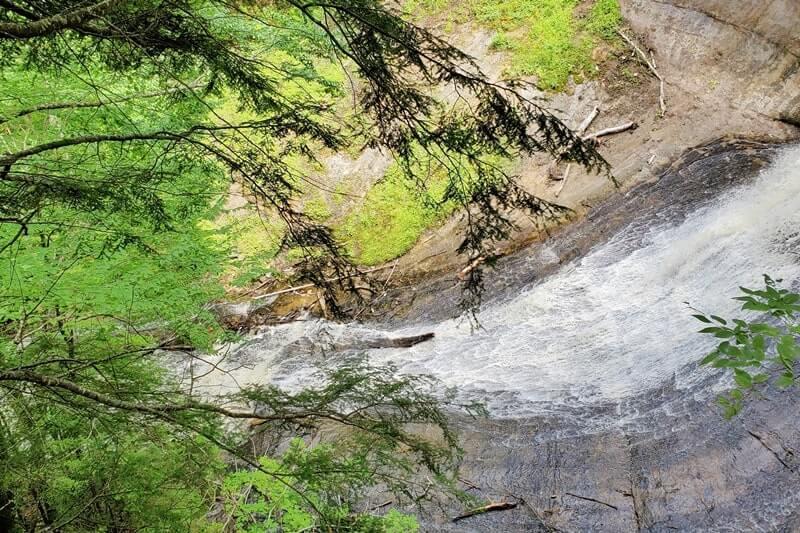 Best Michigan waterfalls: Chapel Falls. Best UP waterfalls upper peninsula. up michigan travel blog