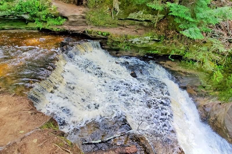 Michigan waterfalls: Chapel River Trail. Best UP waterfalls upper peninsula. up michigan travel blog