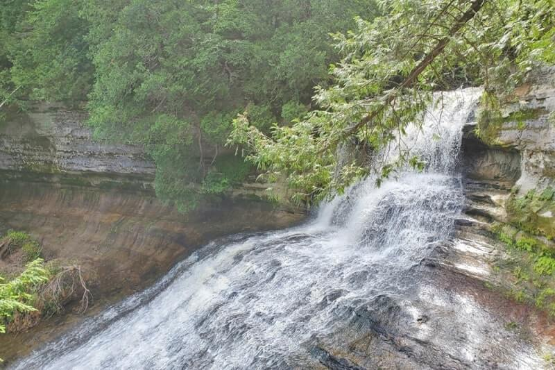 Best Michigan waterfalls: Laughing Whitefish Falls. Best UP waterfalls upper peninsula. up michigan travel blog